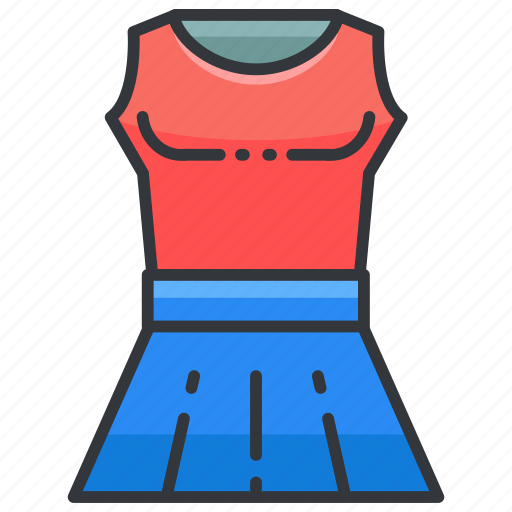 Clothes, clothing, fashion, skirt, top icon - Download on Iconfinder