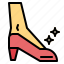 female, footwear, shoe icon