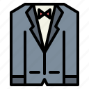 fashion, suit, tuxedo icon