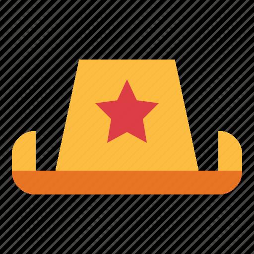 cowboy, hat icon