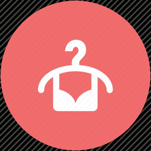 bra on hanger, clubwear bra, dry, fabric, undergarments icon
