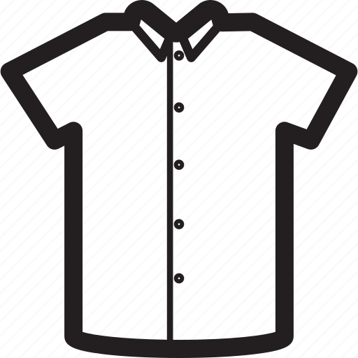 basic, button-up, clothes, collar, plain, shirt icon