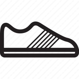 exercise, shoes, sports, stripes icon