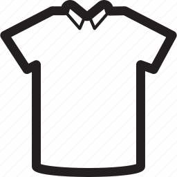 basic, clothes, collar, plain, tshirt icon