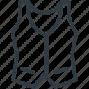 elegant, hypster, vest icon