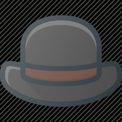 bowler, gentleman, hat icon