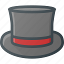 cylinder, magician, hat, retro icon
