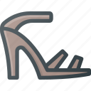 heel, heels, high, higheels, sandal icon