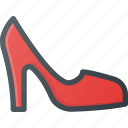heel, heels, high, higheels, shoe icon