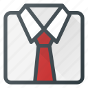 elegant, folded, shirt, business, fold icon