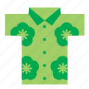 cloth, clothes, clothing, garment, hawaii, hawaiian, shirt icon
