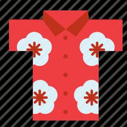 cloth, clothes, clothing, garment, hawaii, hawaiian, shirt icon