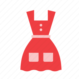 cloth, clothes, clothing, dress, garment, red icon