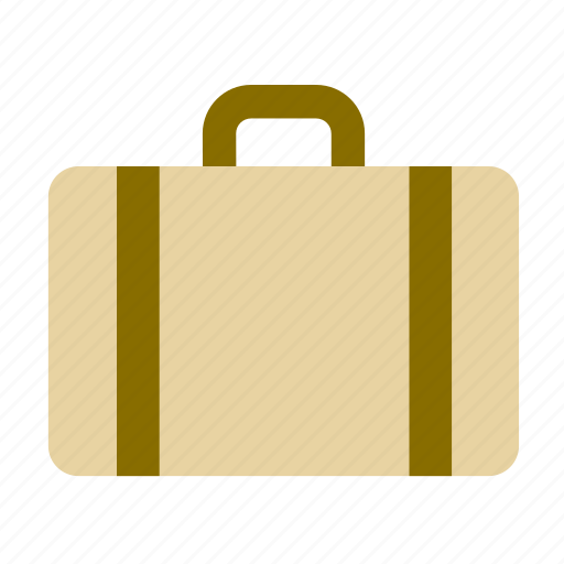 accessory, adornment, briefcase, clothing, luggage, suitcase icon