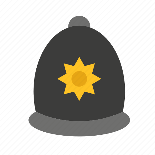 accessory, adornment, clothing, hat, london, police icon