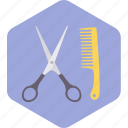 hair, scissor, cutting, barber, saloon, comb icon
