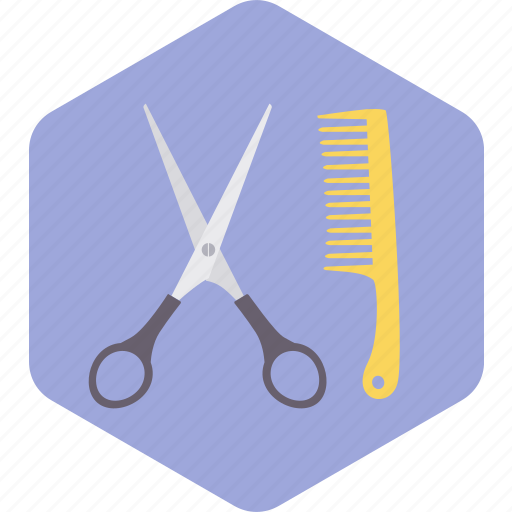 barber, comb, cutting, hair, saloon, scissor icon