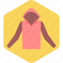 jacket, protection, safety, weather, winter icon