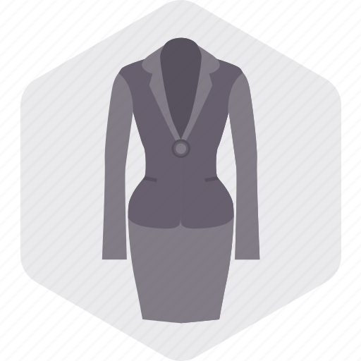dress, fashion, girl, office, uniform, woman icon