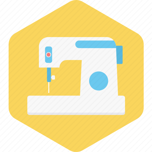 Sewing, stitching, industry, work, machine, tailoring icon