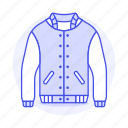 accessory, baseball, clothes, garment, jacket icon