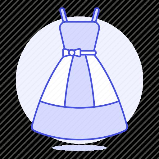 2, accessory, blue, clothes, dress, garment icon