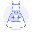 3, accessory, blue, clothes, dress, garment icon