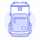accessory, backpack, bag, clothes, green, light, luggage icon