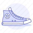 accessory, clothes, converse, footwear, red, shoes, sneakers icon
