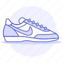 accessory, clothes, footwear, gray, nike, running, shoes, sneakers icon