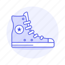 accessory, blue, boots, clothes, converse, footwear, light, shoes, short, sneakers icon