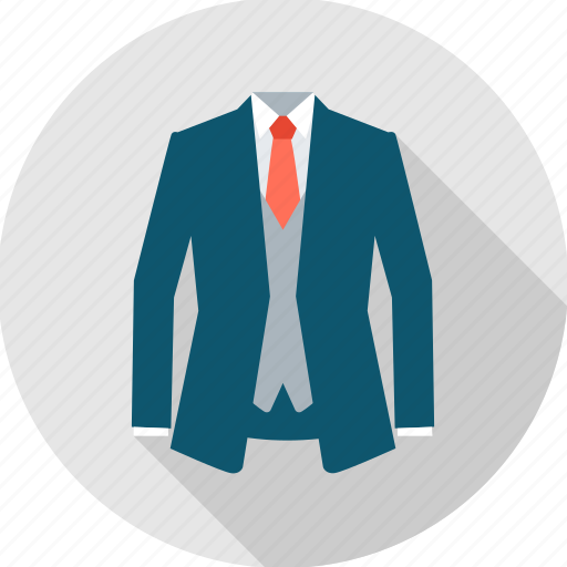 business, clothes, formal, man, men, office, suit icon