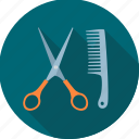 barber, cutting, fashion, hair cut, haircut, service icon