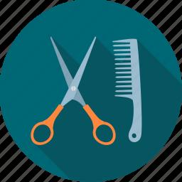 barber, cutting, fashion, hair cut, haircut, service icon