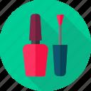 brush, color, cosmetic, nail, nail care, nail paint, nail polish icon