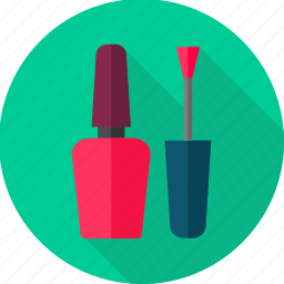 brush, color, cosmetic, nail, nail care, nail paint, nail polish icon