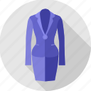 dress, partywear, professional, girl, formal, clothing, clothes icon
