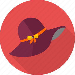 cap, girl, girlish, hat, picnic, round, round hat icon