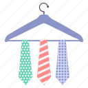 fashion, hanger, man, tie icon