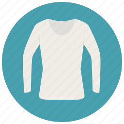 clothes, long sleeve, shirt, top, tshirt, white top icon