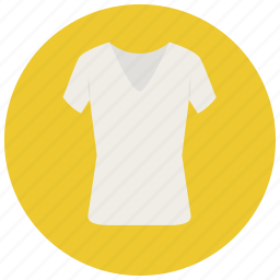 clothes, laundry, shirt, tshirt, v neck, white top icon