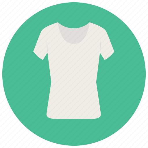 clothes, shirt, top, tshirt, white top icon