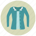 blue shirt, cardigan, clothes, fashion, shirt, sweater, clothing icon