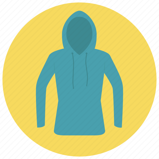 Blue Clothes Hood Hoodie Shirt Sweater Icon Icon