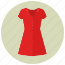 clothes, dress, fancy, fashion, red, short dress, women icon