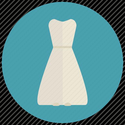 clothes, dress, elegant, fancy, fashion, girl, long dress, party dress, white dress, women icon