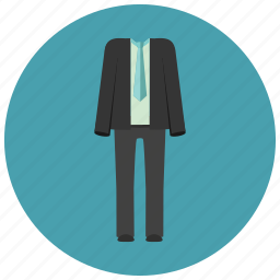 black suit, business suit, clothes, elegant, fancy, fashion, men, suit, tie icon