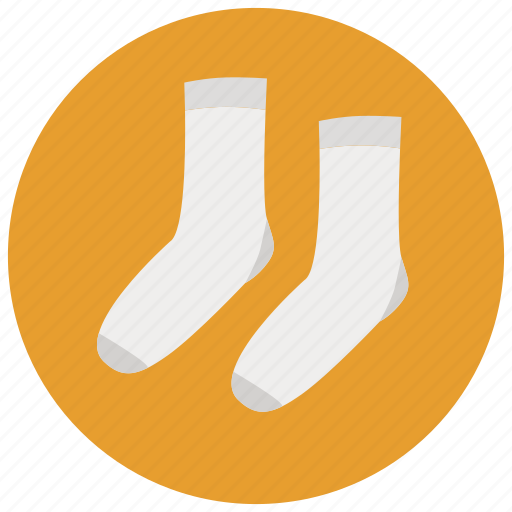 clothes, laundry, socks, white socks icon