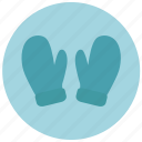 clothes, gloves, mittens, winter icon