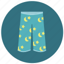 clothes, homewear, pajama pants, pajamas, pants, shorts, sleepwear icon